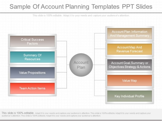 Sample Of Account Planning Templates Ppt Slides - PowerPoint Templates