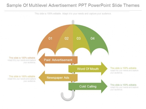Sample Of Multilevel Advertisement Ppt Powerpoint Slide Themes