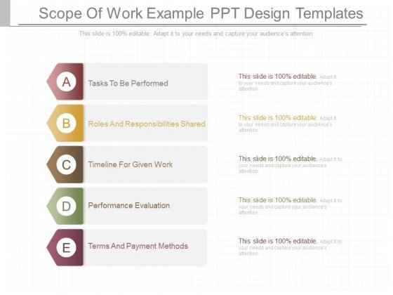 Scope Of Work Example Ppt Design Templates - PowerPoint Templates - scope of work template