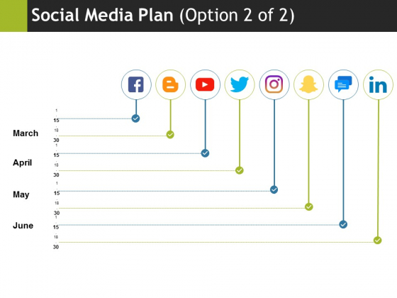 Social Media Plan Template 2 Ppt PowerPoint Presentation Infographic