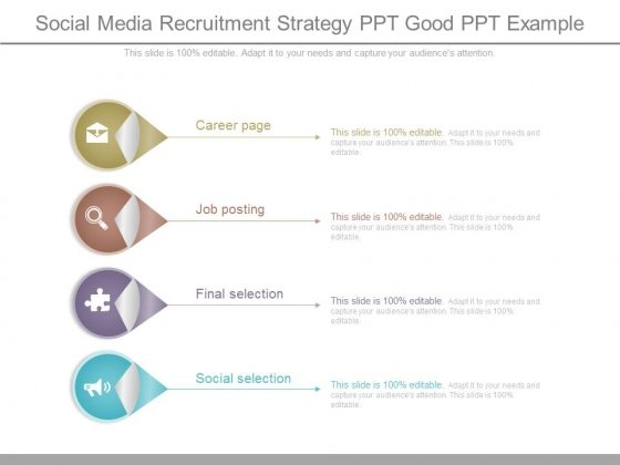 Social Media Recruitment Strategy Ppt Good Ppt Example - PowerPoint