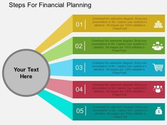 Steps For Financial Planning Powerpoint Templates - PowerPoint Templates