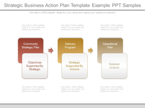 Strategic Business Action Plan Template Example Ppt Samples