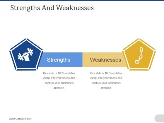 Strengths And Weaknesses Ppt PowerPoint Presentation Gallery Slide