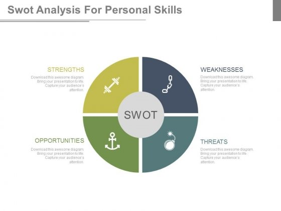 Swot Analysis Diagram With Icons Powerpoint Slides - PowerPoint