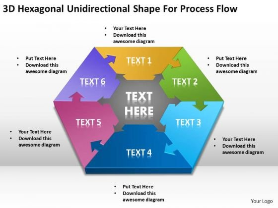 Shape For Process Flow Ppt Professional Business Plan Template