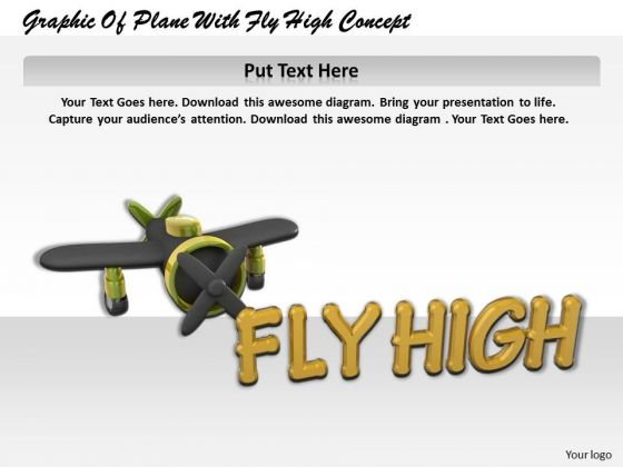 Stock Photo Graphic Of Plane With Fly High Concept PowerPoint
