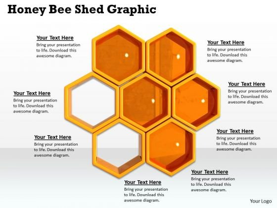 Stock Photo Honey Bee Shed Graphic PowerPoint Template - PowerPoint