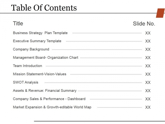 Table Of Contents Template 2 Ppt PowerPoint Presentation Icon