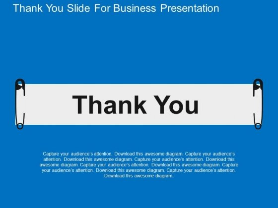 Thank You Slide For Business Presentation Powerpoint Templates