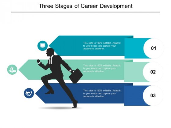 Three Stages Of Career Development Ppt PowerPoint Presentation Icon
