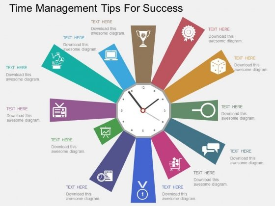 Time Management Tips For Success Powerpoint Templates - PowerPoint