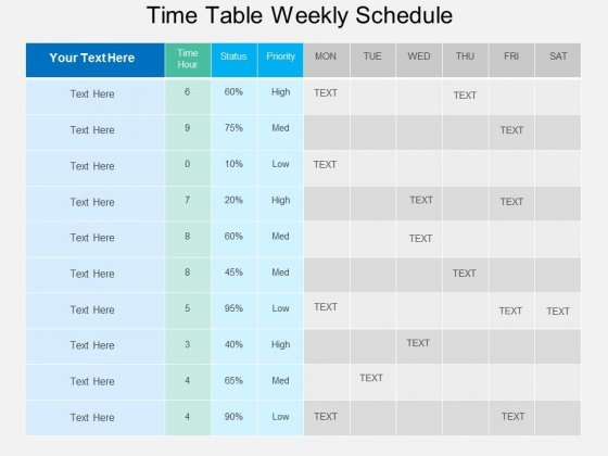 Time Table Weekly Schedule Powerpoint Template - PowerPoint Templates