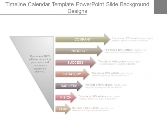 Timeline Calendar Template Powerpoint Slide Background Designs - powerpoint calendar template