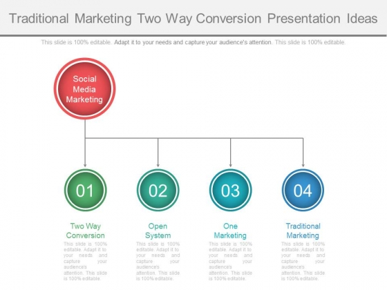 Traditional Marketing Two Way Conversion Presentation Ideas Ppt - marketing presentation