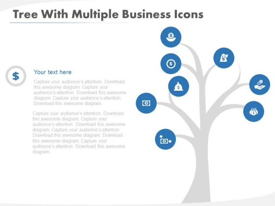 Tree Diagram For Strategic Planning Methods Powerpoint Template