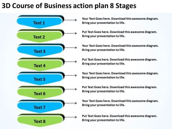 Templates Free Download Action Plan 8 Stages Unified Modeling