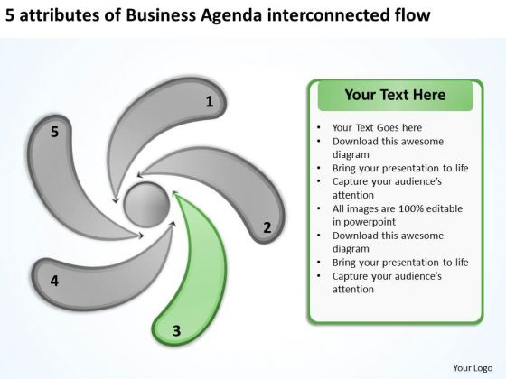 Templates Free Download Agenda Interconnected Flow Business Plan