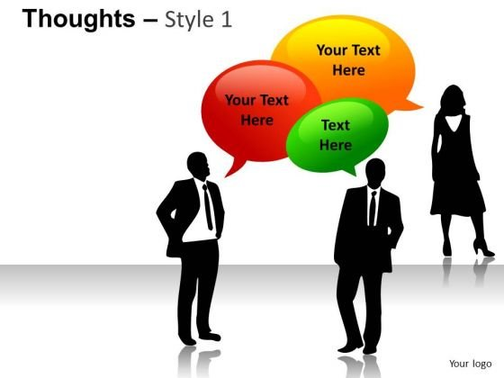 Thoughts Bubbles PowerPoint Slides And Ppt Images - PowerPoint Templates