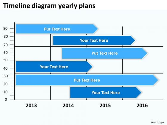 Timeline Diagram Yearly Plans PowerPoint Templates Ppt Slides