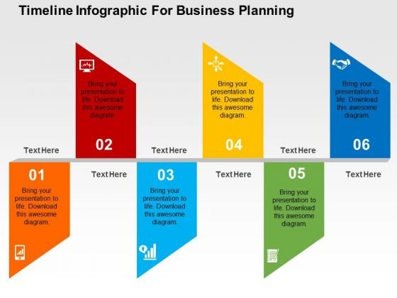 Timeline Infographic For Business Planning PowerPoint Template - powerpoint infographic template