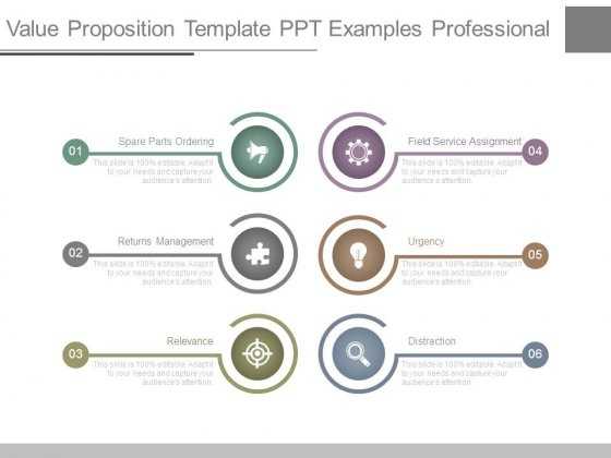 Value Proposition Template Ppt Examples Professional - PowerPoint