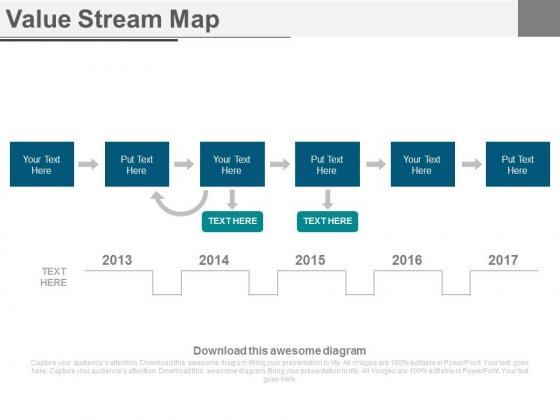 Value Stream Map Ppt Slides - PowerPoint Templates