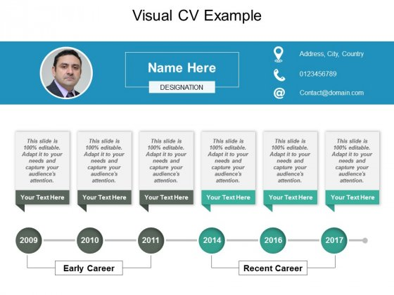 Visual Cv Example Ppt PowerPoint Presentation Gallery Brochure