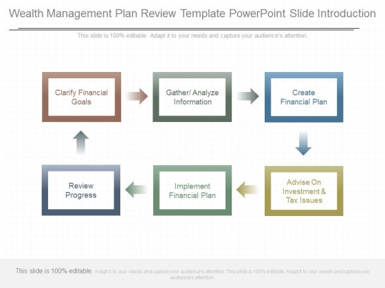 Wealth Management Plan Review Template Powerpoint Slide Introduction - management review template
