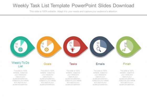 Weekly Task List Template Powerpoint Slides Download - PowerPoint