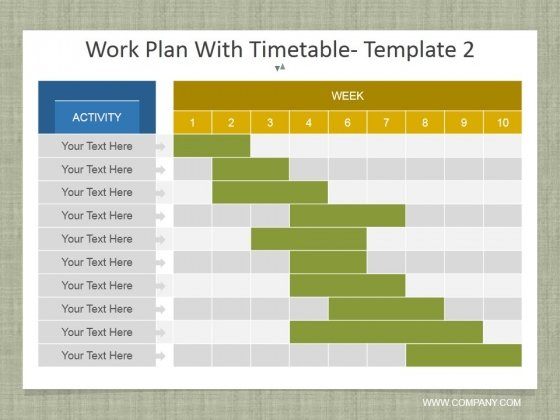 Work Plan With Timetable Template 2 Ppt PowerPoint Presentation File