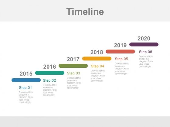 Year Based Stair Design Timeline Powerpoint Slides - PowerPoint - powerpoint timeline