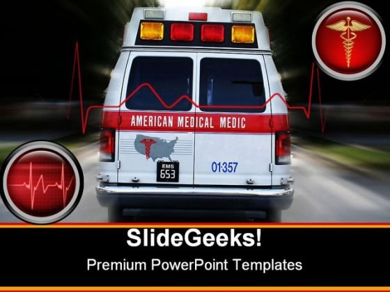 Ambulance Medical PowerPoint Template 0610 - PowerPoint Themes