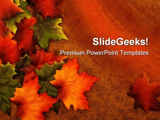 Autumn Leaves01 Nature PowerPoint Template 1010 - PowerPoint Themes
