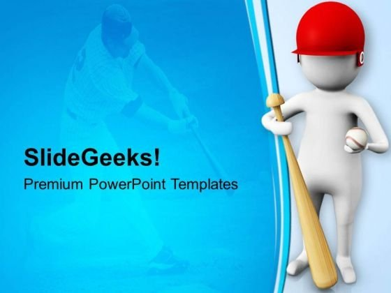 Baseball Is Intresting Game PowerPoint Templates Ppt Backgrounds For