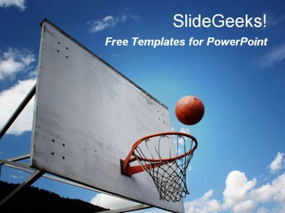 Basketball Game PowerPoint Template - PowerPoint Themes - basketball powerpoint template