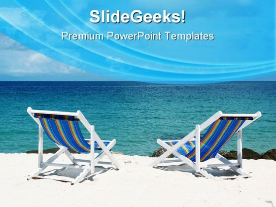 Beach Deck Chairs Vacation PowerPoint Templates And PowerPoint