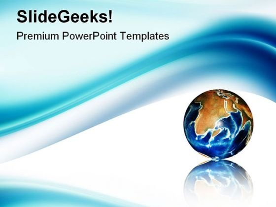 Blue Wave Abstract PowerPoint Templates And PowerPoint Backgrounds