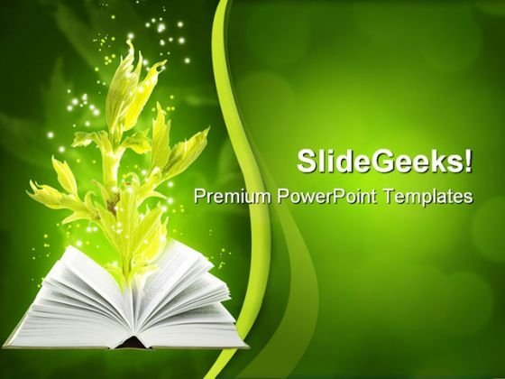Book Of Ground Magic Nature PowerPoint Templates And PowerPoint