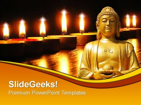 Stones PowerPoint Themes - buddhism powerpoint
