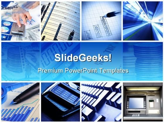 Business Collage Finance PowerPoint Template 1110 - PowerPoint Themes