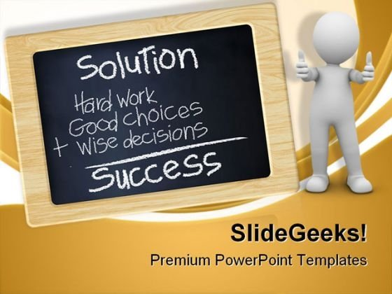 Chalkboard Success PowerPoint Themes And PowerPoint Slides 0711