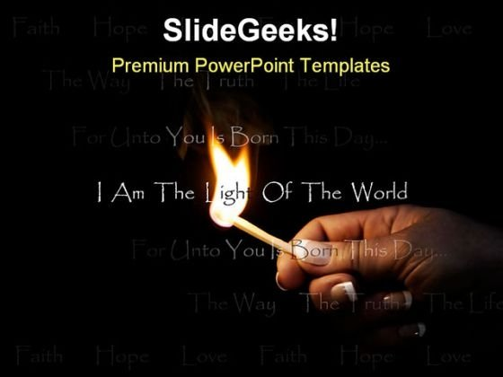 Christian Flame Religion PowerPoint Template 0810 - PowerPoint Themes