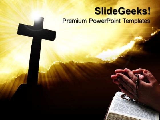 Christianity Cross Religion PowerPoint Templates And PowerPoint