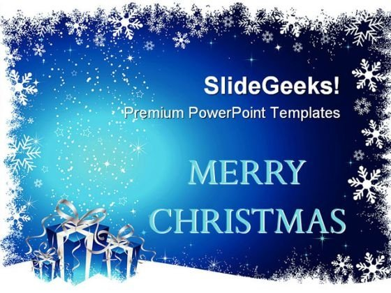 Christmas Gifts Holidays PowerPoint Template 1010 - PowerPoint Themes