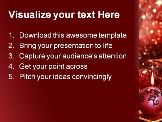 Christmas Lights Festival PowerPoint Templates And PowerPoint