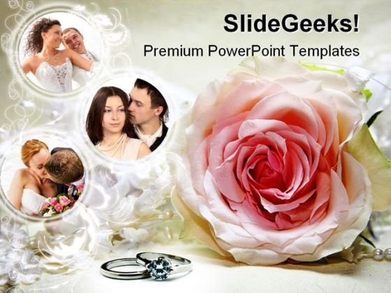 Couples Wedding PowerPoint Template 0610 - PowerPoint Themes