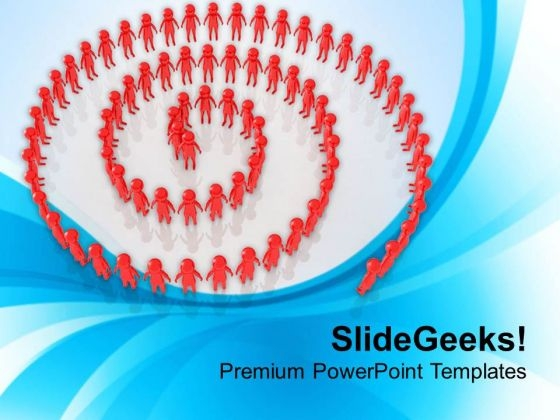 Do Not Get Stuck In Circle PowerPoint Templates Ppt Backgrounds For