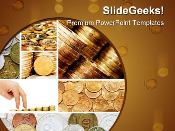 Dollar Collage Money PowerPoint Templates And PowerPoint Backgrounds