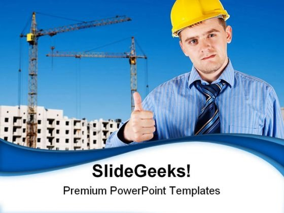 Engineer Construction PowerPoint Themes And PowerPoint Slides 0411